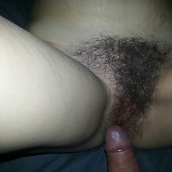Horny Couple Decided To Snap Some Pictures Of The Wife's Hairy Pussy After Sex