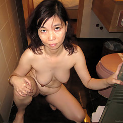 Hot Asian With Bush Sucks Cock