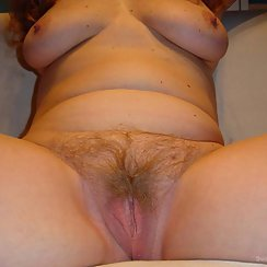 Busty Babe Has Hairy Twat And Hard Nipples