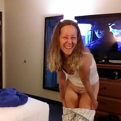 Fun Gal Shows Us Her Hairy Pussy