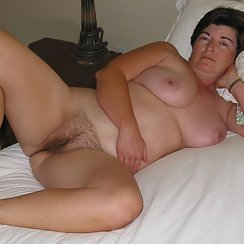 Cute Mom Shows Hairy Pussy And Nice Tits