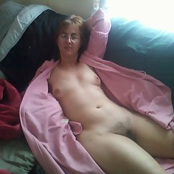 Hot Mom Lays Back And Enjoys Showing Her Hairy Pussy
