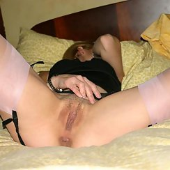 Hot Girl Wearing Lingerie Spreads Pussy